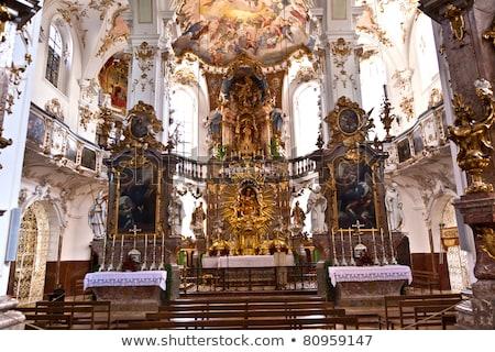 beroemd · brouwerij · hemel · natuur · landschap · kerk - stockfoto © meinzahn