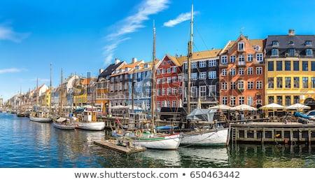 új kikötő Koppenhága Dánia jacht szín Stock fotó © vladacanon