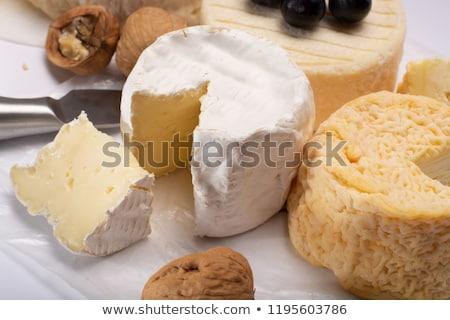 Fransız peynir yumuşak kıyılmış pırasa Stok fotoğraf © Digifoodstock