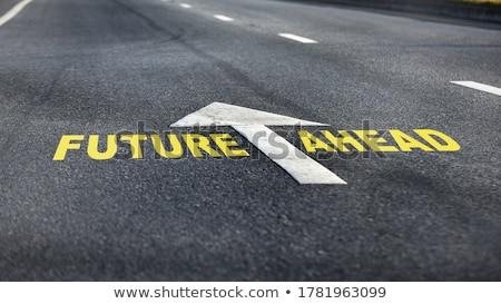 Jövő szó iroda szerszámok iskola toll Stock fotó © fuzzbones0