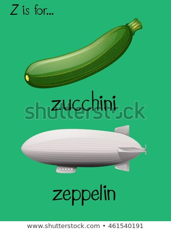Two words begin with letter Z Stock photo © bluering
