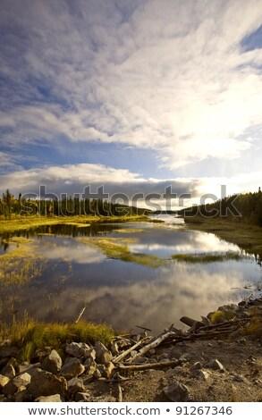 Northern Manitoba Lake near Thompson in Autumn Stock photo © pictureguy