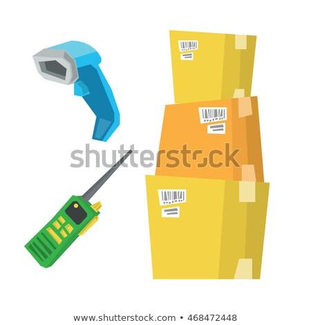Carton cases Barcode scanner radio Photo stock © RAStudio