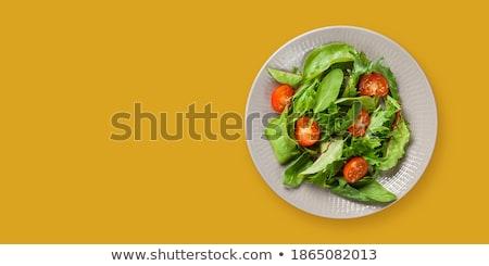 Vegetable for salad: radish, lettuce, arugula, paprika Stock photo © user_11056481