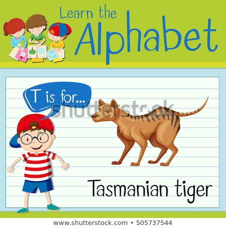 alfabeto · letra · t · menina · crianças · estudante · arte - foto stock © bluering
