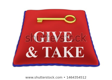 Give and Take Person Share Sharing Giving 3d Illustration Stock photo © iqoncept