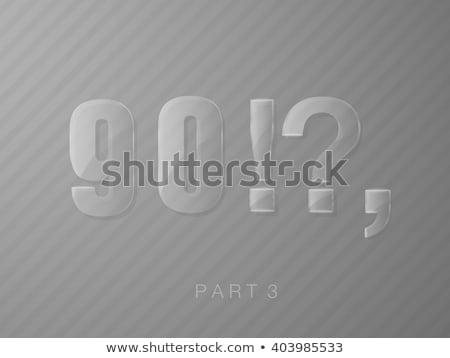Szett levelek üveg átlátszó klasszikus betűtípus Stock fotó © Panaceadoll