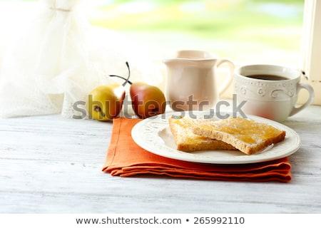 toasts with honey and tea  Stock photo © OleksandrO