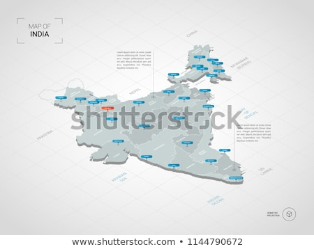 map of india poster vector design illustration stock photo © sarts