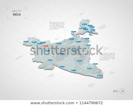 Harita Hindistan poster vektör dizayn örnek Stok fotoğraf © SArts