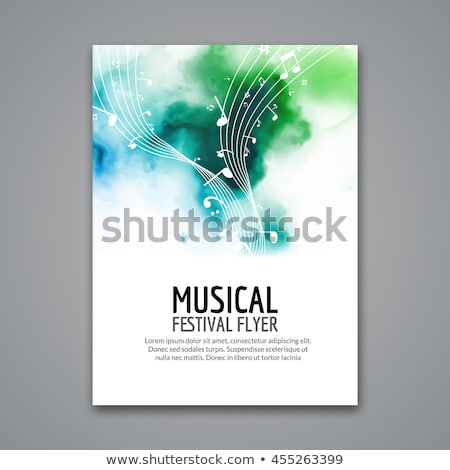 Abstract Party Music Flyer Brochure Template With Beautiful Ligh