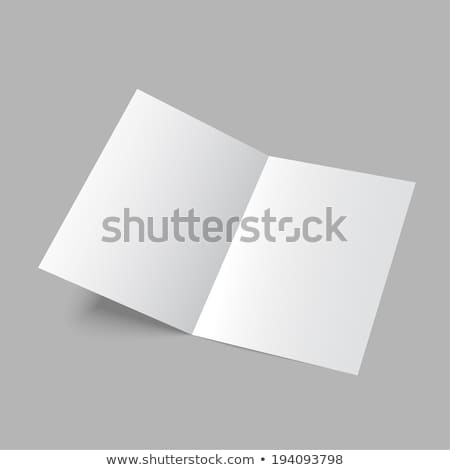 Lying blank two fold paper brochure Stock photo © cherezoff