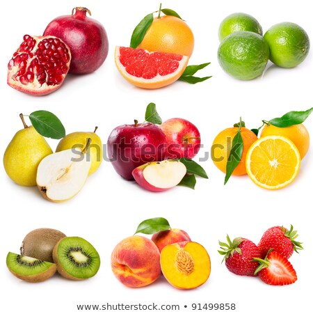 pomegranate, apple, pear, peach - healthy fruit Stock photo © tatiana3337