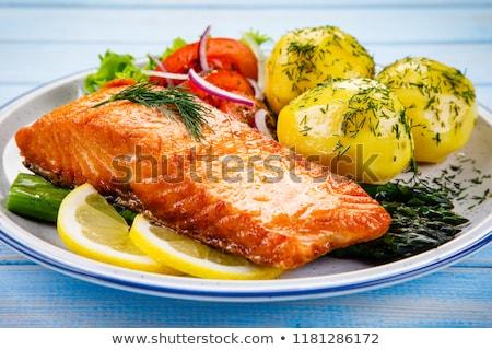 жареный · рыбы · филе · картофель · чипов - Сток-фото © digifoodstock