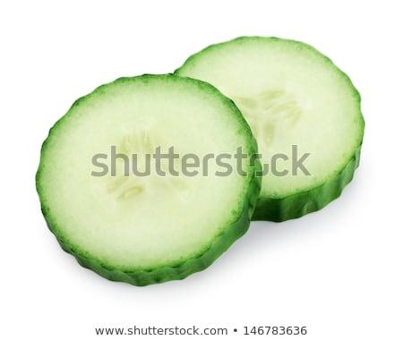 iki · yeşil · salatalık · beyaz · gıda · taze - stok fotoğraf © digifoodstock