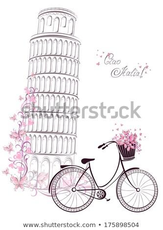 イタリア語 レトロな 自転車 孤立した デザイン 芸術 ストックフォト © NikoDzhi