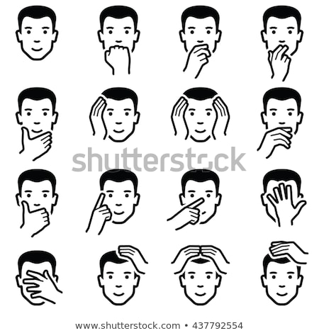 blind person face head icon vector illustration stock photo © popaukropa