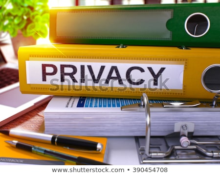 Secrecy on Office Folder. Blurred Image. 3D. Stock photo © tashatuvango