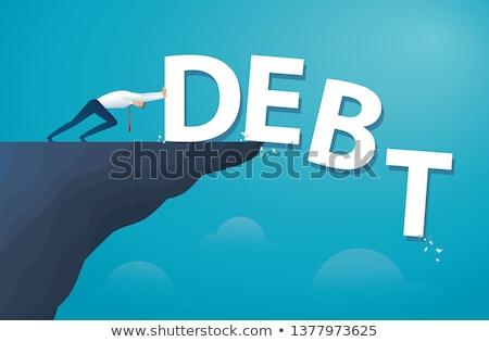 Költségvetést készít rajz kék szó üzlet illusztráció Stock fotó © tashatuvango