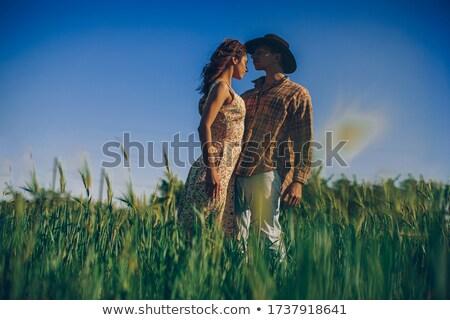 Genç aşıklar sarılmak park çift yeşil Stok fotoğraf © IS2