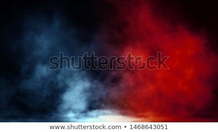 stream of blue red smoke Stock photo © artjazz