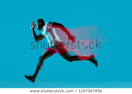 retrato · muscular · fuerte · sin · camisa · masculina - foto stock © deandrobot