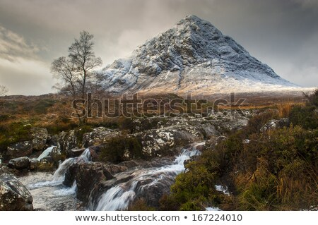 View from a height to a winter landscape - a mountain river surr Stock photo © vlad_star