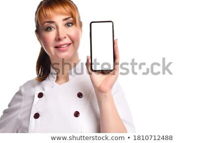 Młodych pani lekarza medycznych suknia patrząc Zdjęcia stock © deandrobot