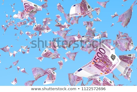 Esik az eső eurók 3d illusztráció izolált fehér Euro Stock fotó © Spectral