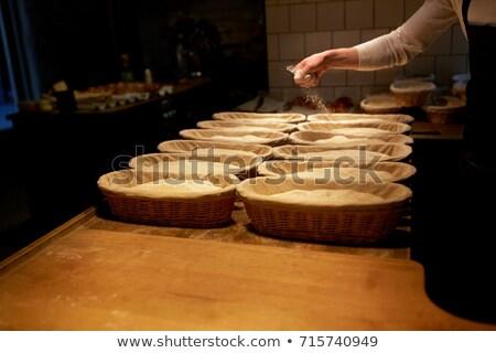 Bäcker Aufgang Bäckerei Essen Kochen Stock foto © dolgachov
