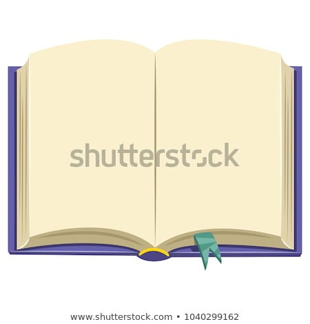 Opened hardcover book vector cartoon illustration. Stock photo © RAStudio