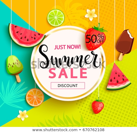 fruits background for summer sale Stock photo © SArts