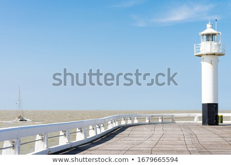 Blankenberge Lighthouse in Belgium Stock photo © benkrut