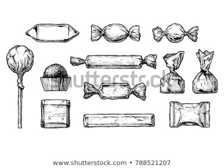 Candy hand drawn sketch icon. Stock photo © RAStudio
