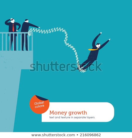 Businessman bungee jumping Stock photo © adrenalina