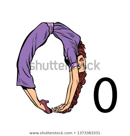 Numero pari a zero uomini d'affari silhouette alfabeto pop art Foto d'archivio © studiostoks