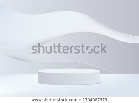 Podium czyste szary studio tabeli internetowych Zdjęcia stock © SArts