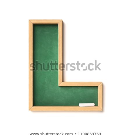 Back to school design with green chalkboard and typography lettering on yellow background. Vector il Stock photo © articular