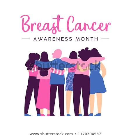 Рак · молочной · железы · осведомленность · месяц · женщины · друга · группа - Сток-фото © cienpies