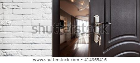 Haus Schlüssel Tür Öffnen Wohnung Form Stock foto © kenishirotie