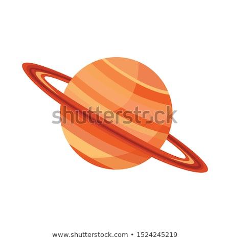 Cartoon Saturn Sign Stock photo © cthoman