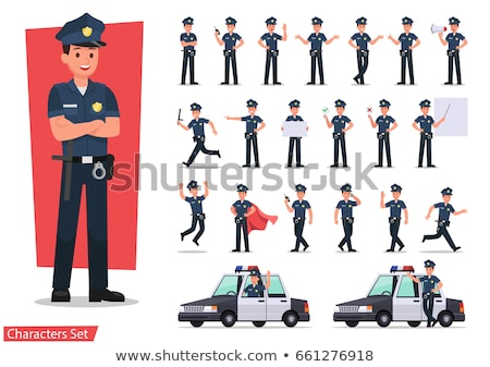 Man Police Ticket Illustration Stock photo © lenm