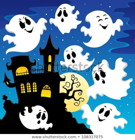 haunted house with ghosts theme 2 stock photo © clairev