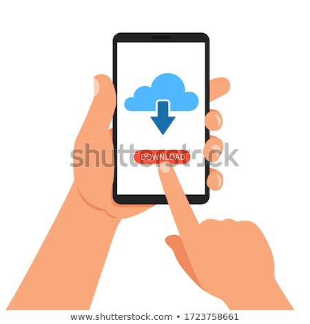 Flat design computing and advertising app screens. Modern user interface UX, UI screen template for  Stock photo © makyzz