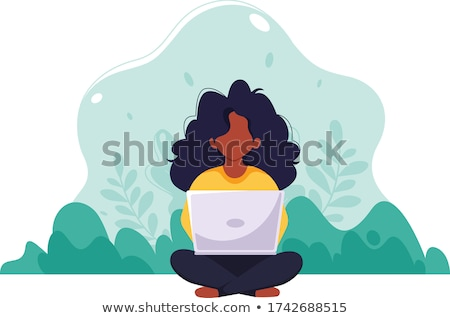 programmer working on laptop vector illustration stock photo © rastudio