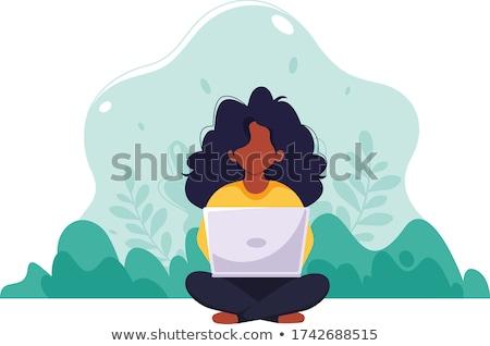 Programozós dolgozik laptop képernyő üzleti elemzés marketing stratégia Stock fotó © RAStudio
