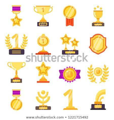 Taza oro colección diferente formas estrellas Foto stock © robuart