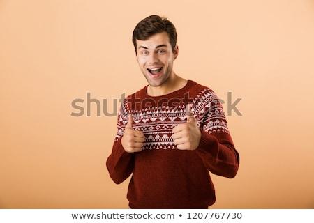 画像 幸せ 男 20歳代 剛毛 着用 ストックフォト © deandrobot