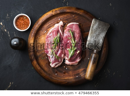 duck breast and pepper stock photo © m-studio