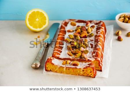 Limon kek şeker parti doğum günü Stok fotoğraf © YuliyaGontar